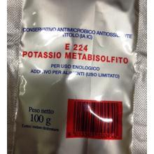 Metabisolfito di Potassio 100gr